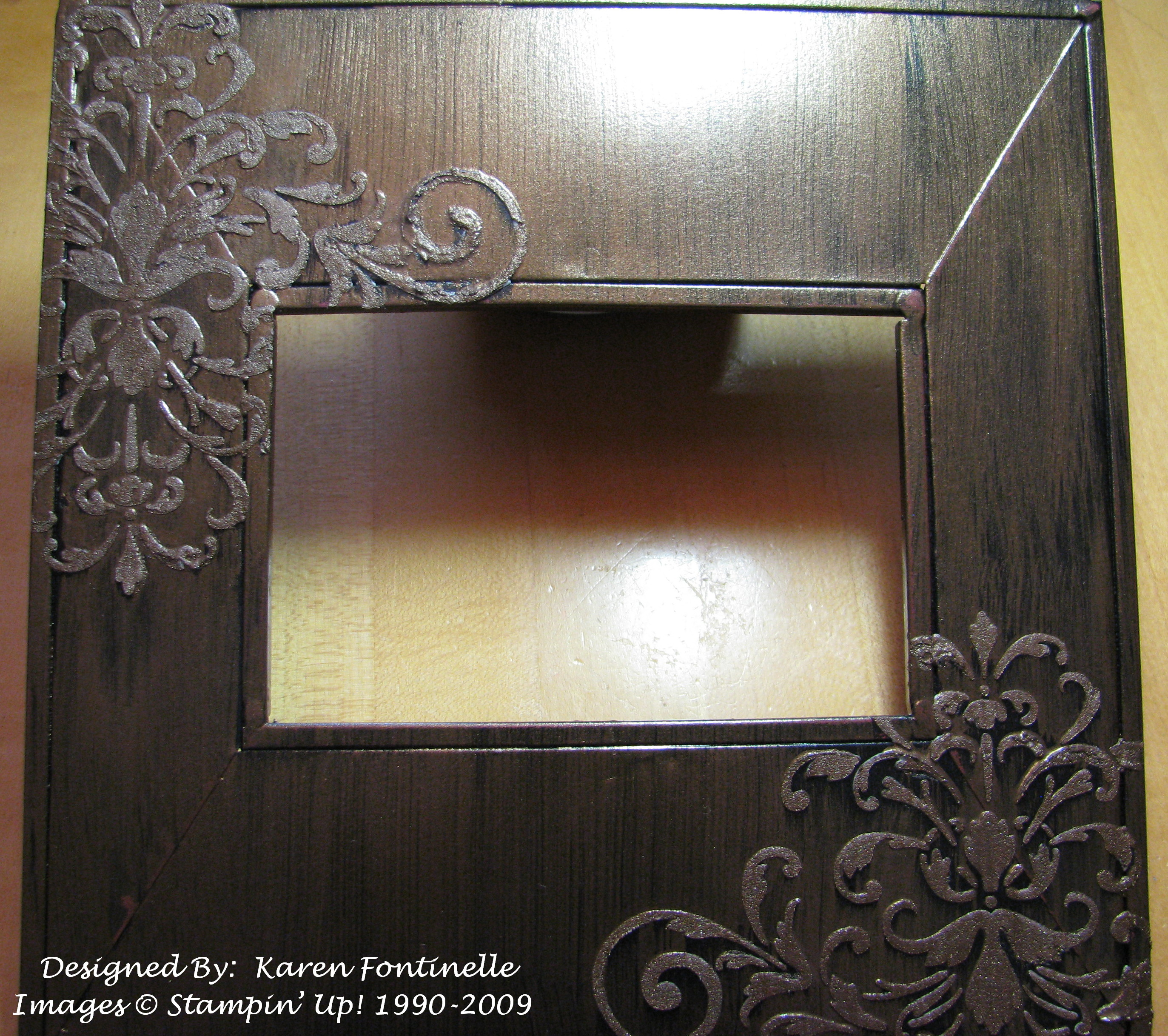 Kind thoughts brocade stencil photo frame stamping with karen kind thoughts brocade stencil photo frame jeuxipadfo Image collections