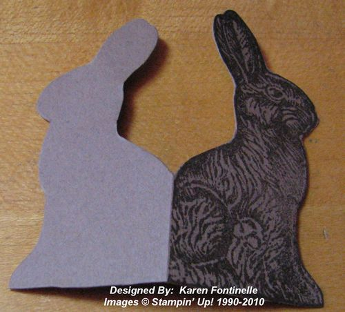 Making a Chocolate Bunny Card