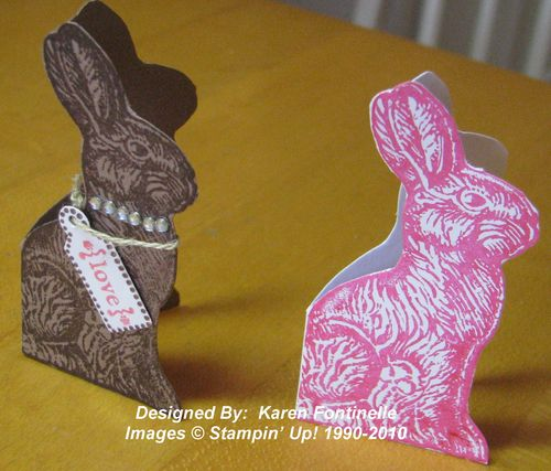 Chocolate and Pink Bunnies