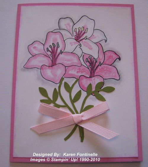 Azalea Card with Fifth Avenue Floral Stamp Set