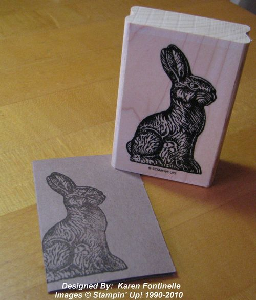 Chocolate Bunny stamp