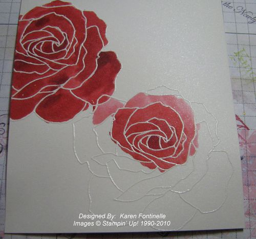 Fifth Avenue Floral embossing
