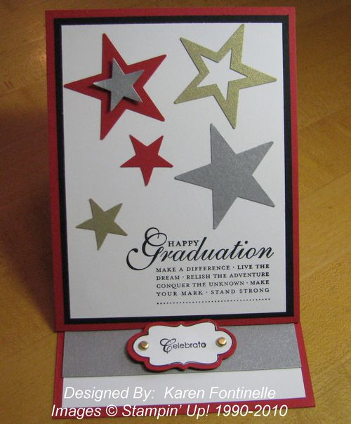 Graduation Easel Card with Stars