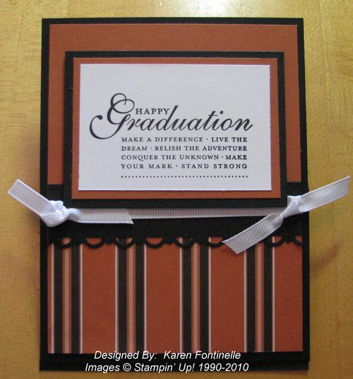 UT University of Texas stamped Graduation Card