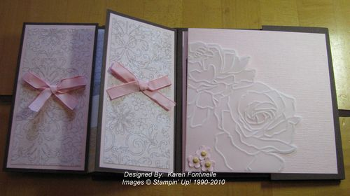 Flip Album pages using Manhattan Flower Embossing Folder