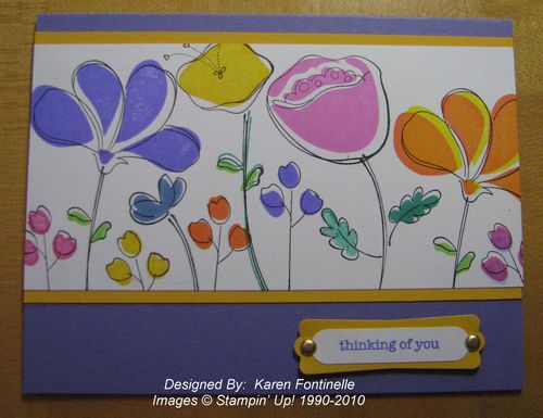 Awash with Flowers Lovely Lilac card