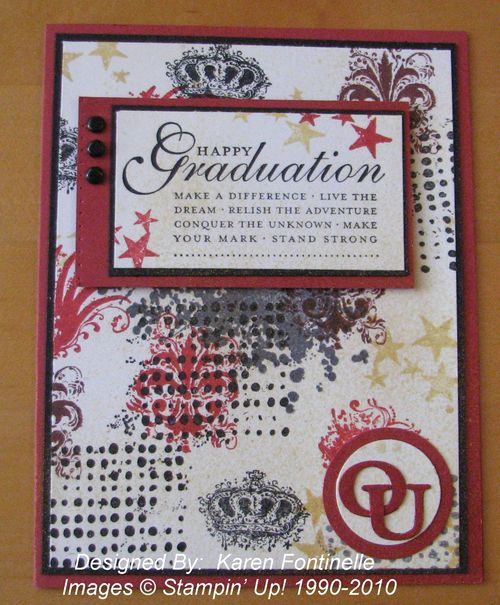 Extreme Elements Graduation Card stamped