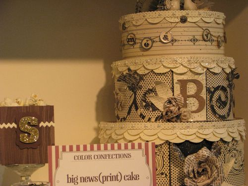 Newsprint Paper Cake