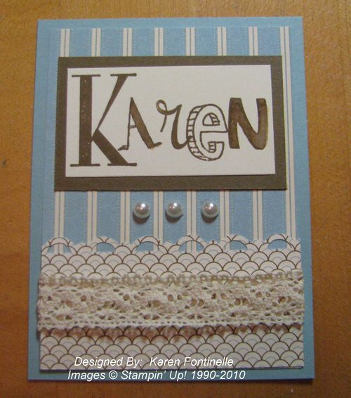 Stampin' Up! Convention Bag Tag