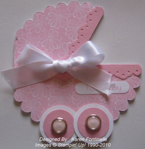 Scallop Baby Carriage Card