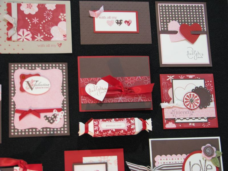 valentines on display at the stampin' up convention 2010
