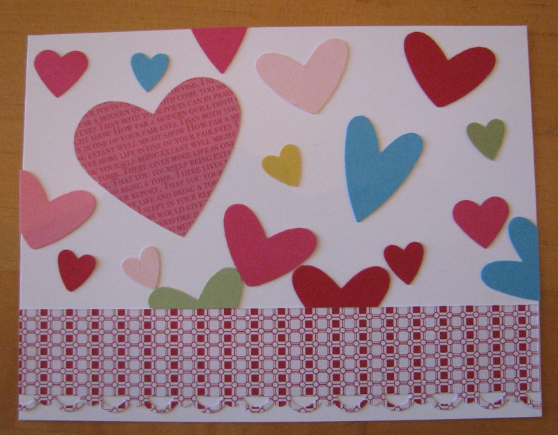 Hearts on Card