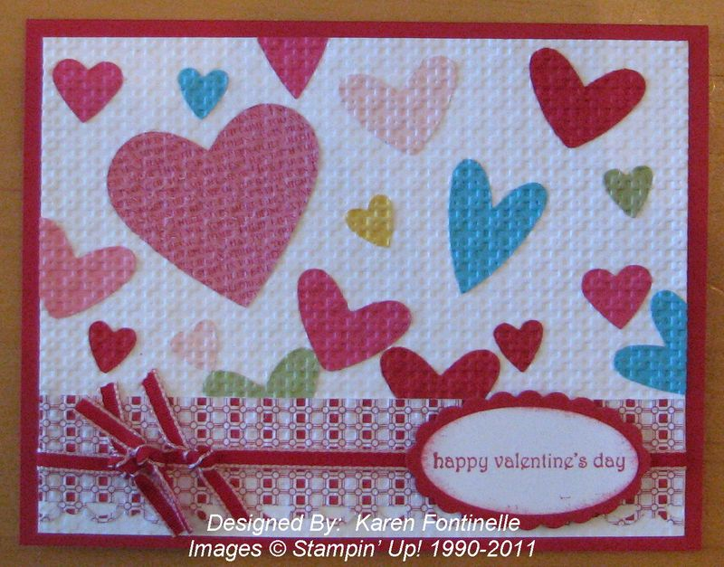 Hearts Card Embossed