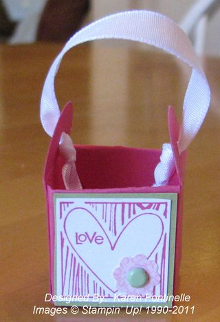Petal Card Punch Valentine Basket