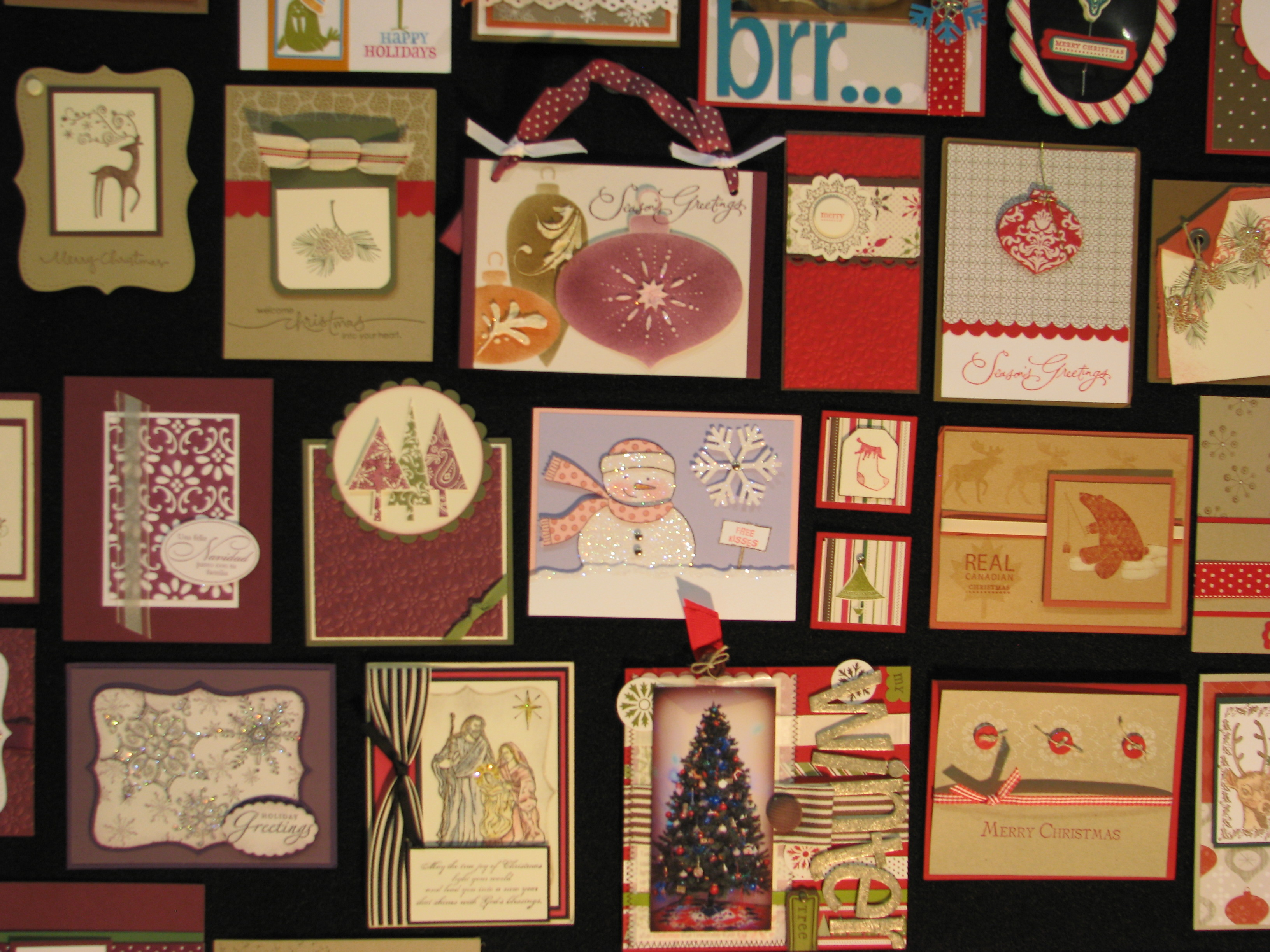 stampin� up convention display photos christmas