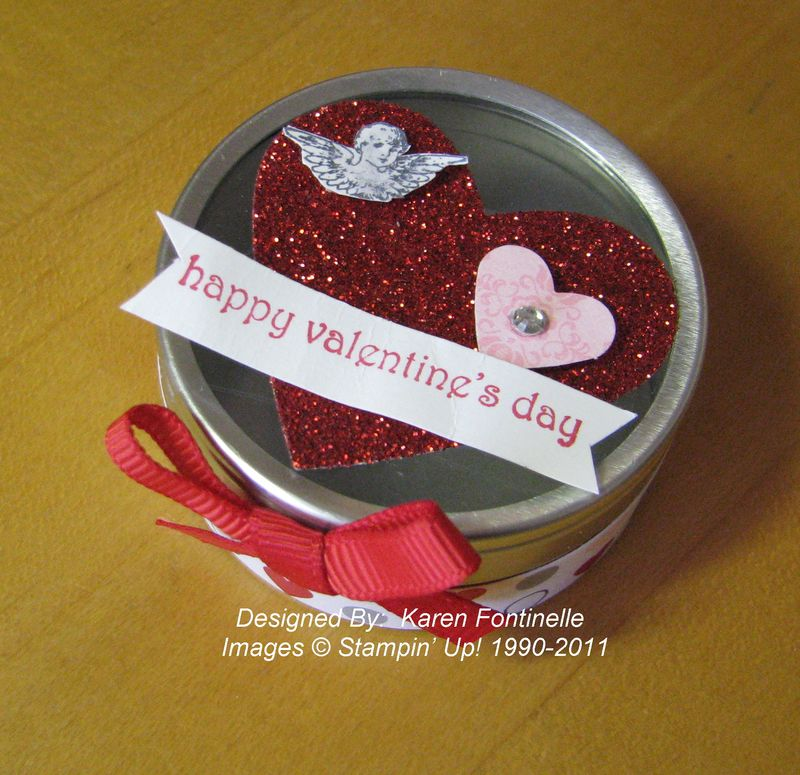 Valentine Favor Tin