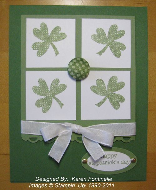 Stampin up cards St Patricks Day