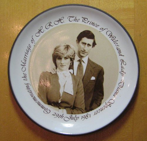 Charles and Diana plate