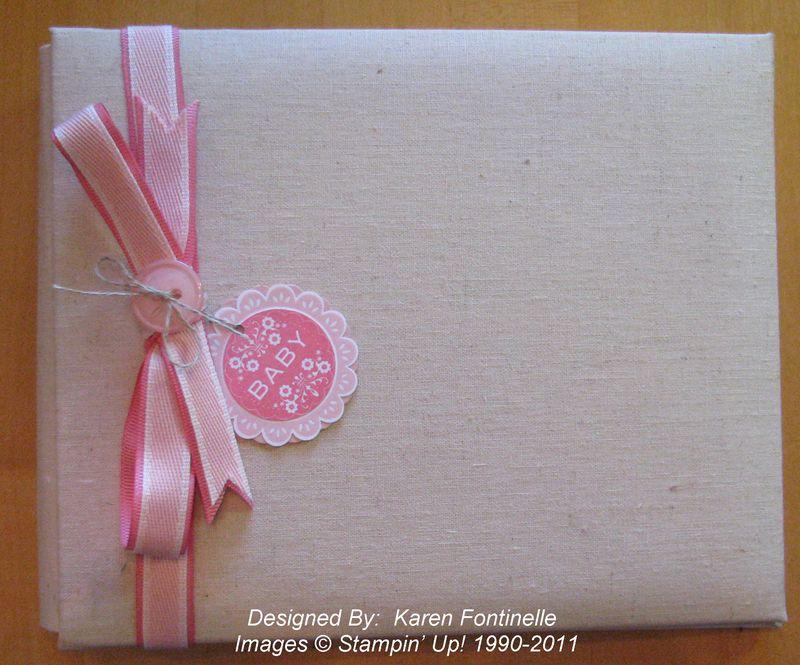 Stampin Up Baby Scrapbook Album Stamping With Karen