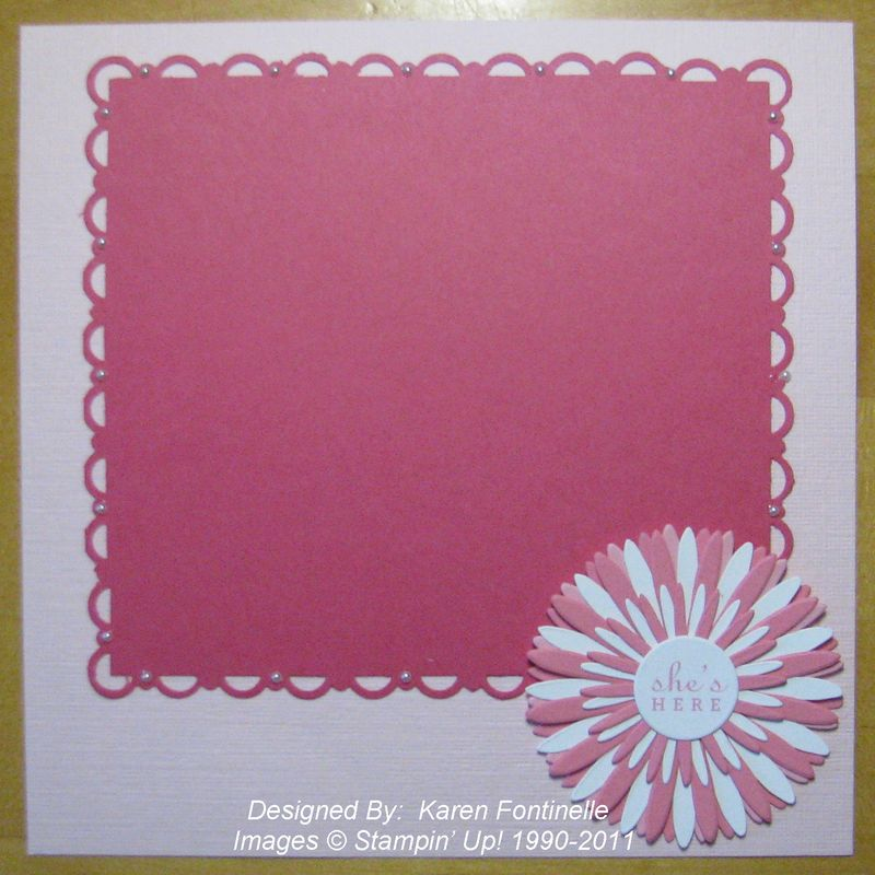 Stampin Up Baby Scrapbook Album Stamping With Karen