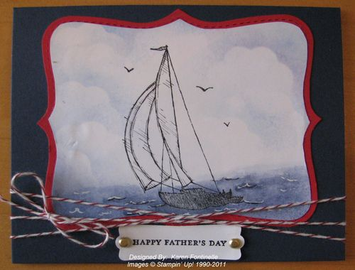 Father's Day Sail Away Card