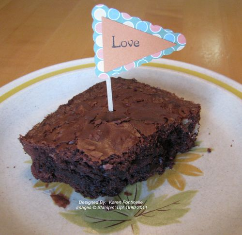 Chocolate Day Brownie Pennant