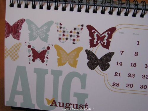 Adding die-cut butterflies to MDS Calendar