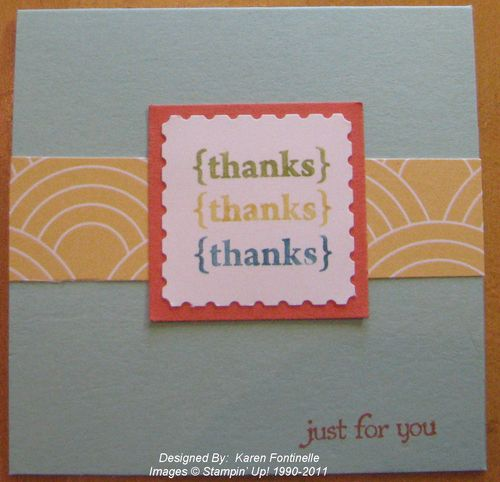 Pretty Postage Thank You Card
