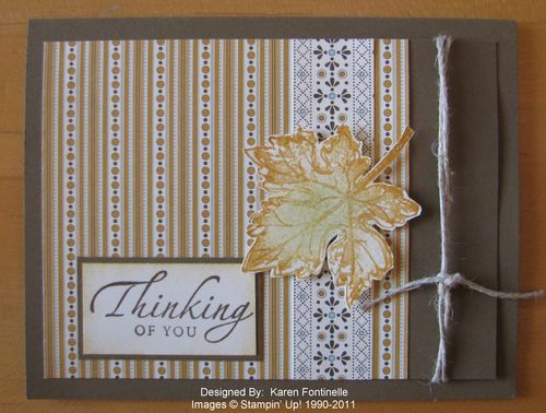 Gently Falling Leaf Card