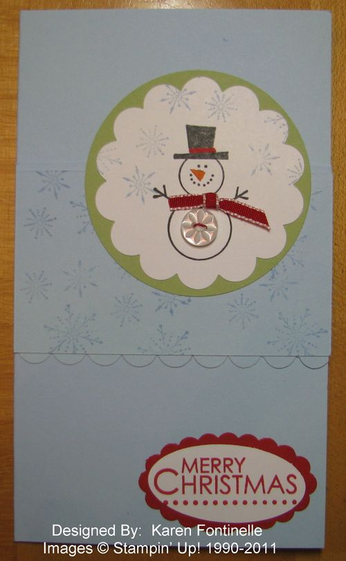 Stampin' Up! Snowman Button Buddies Christmas Card