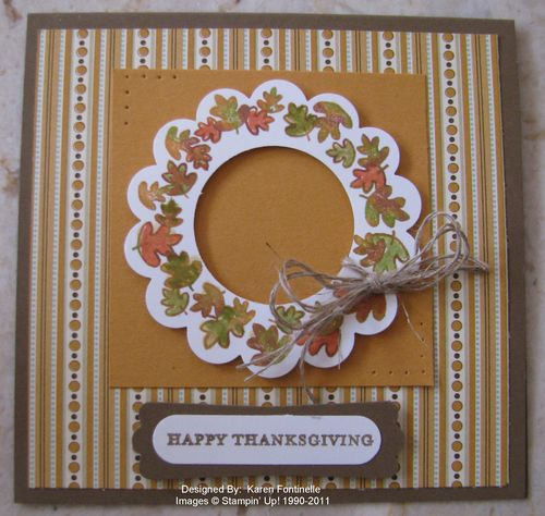 Warmest of Wishes Thanksgiving Wreath Card