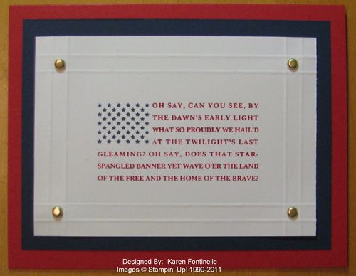 Veteran's Day Land of the Free Card