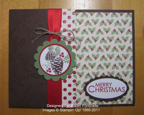 Pines & Poinsettias z-fold Christmas Card