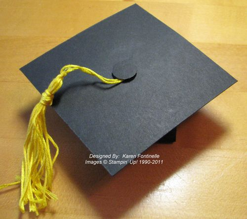 Graduation Cap Box Favor top