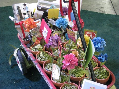 Wagon full of Stampin' Up! Flowers