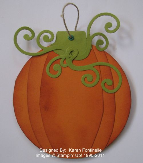 Paper Pumpkin Ornament