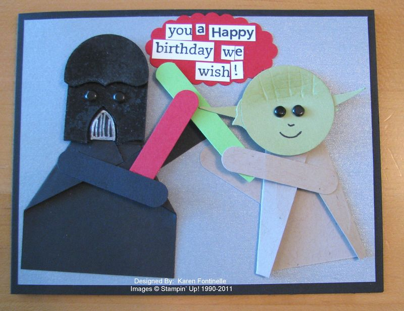 Star wars punch art birthday card stamping with karen star wars birthday card bookmarktalkfo Image collections
