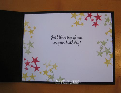 Star Wars Birthday Card Inside