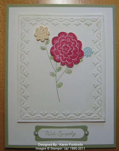 Raining Flowers Sympathy Card