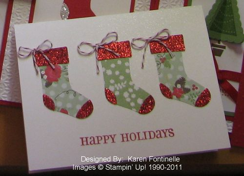 Three Stocking Card