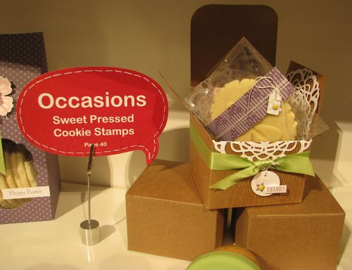 Sweet Pressed Cookie Stamps Kraft Gift Box