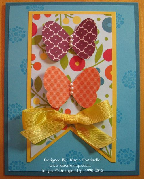 Summer Smooches Butterfly Card
