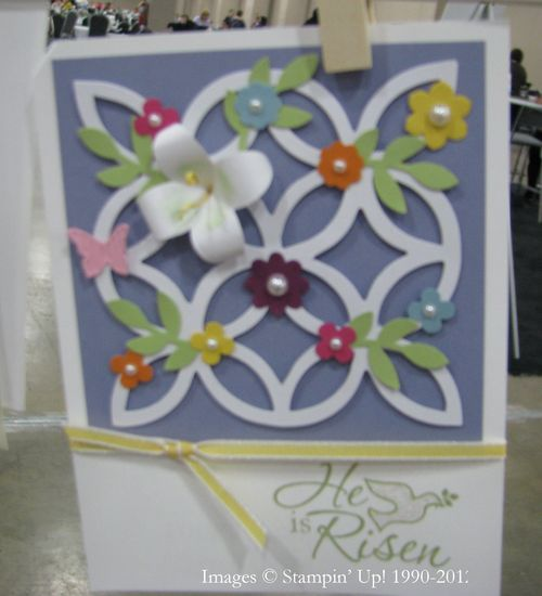 Lattice Die Cut Easter Card