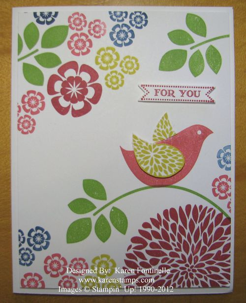 Betsy's Blossoms New In Colors Card
