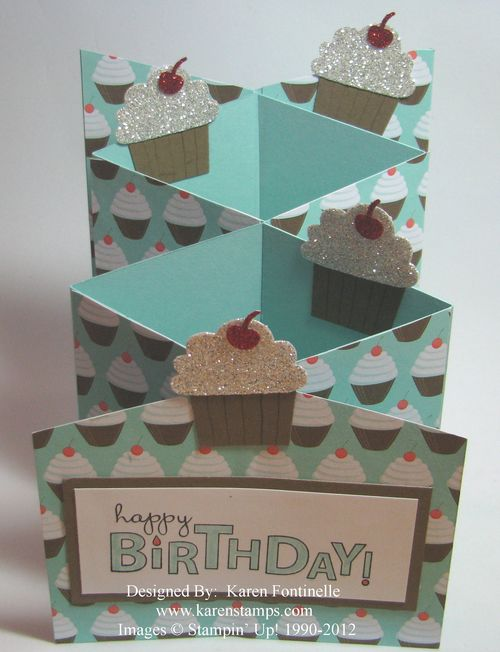 Cascade Cupcake Birthday Card