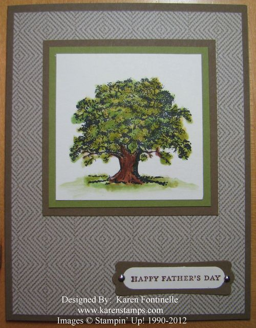 Lovely As a Tree Father's Day Card