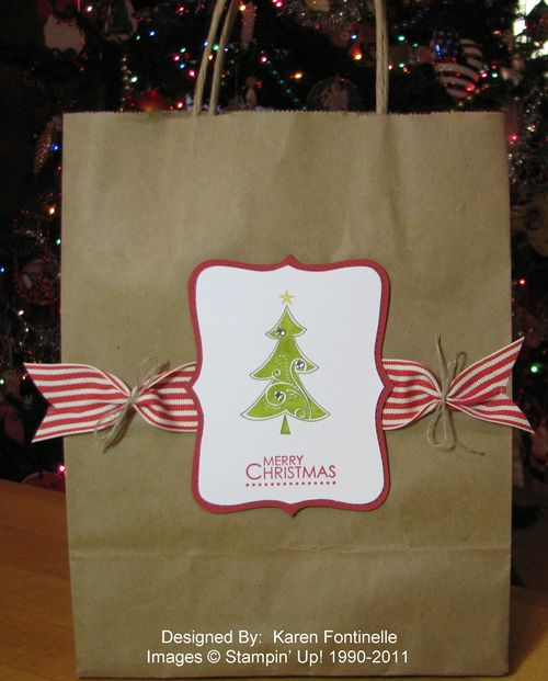 Season of Joy Christmas Tree Gift Bag