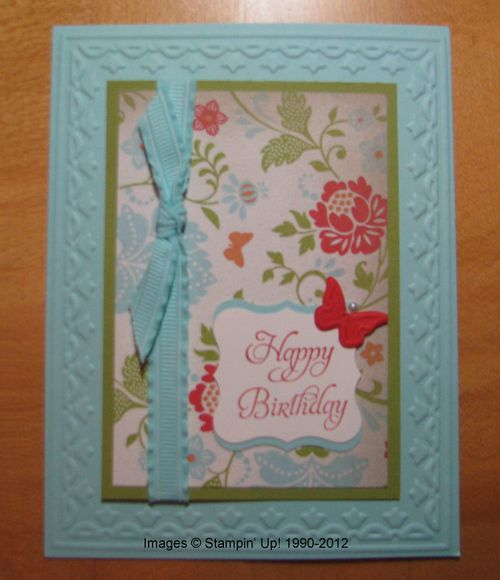 Everyday Enchantment Designer Paper Birthday Card