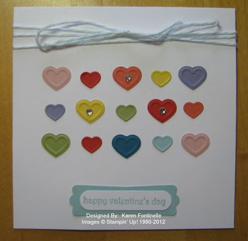 Fashionable Hearts Card
