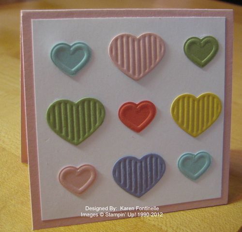 Fashionable Hearts 3x3 Gift Card